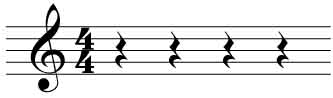 4 quarter note rests